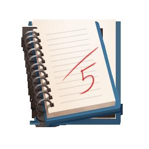 сурава рисунок пятерка в дневнике более четырех